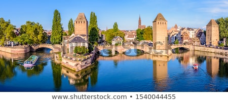 Covered bridge Pont Couverts Stock photo © Givaga