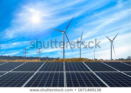 Eco energia micro pianeta blu Foto d'archivio © psychoshadow
