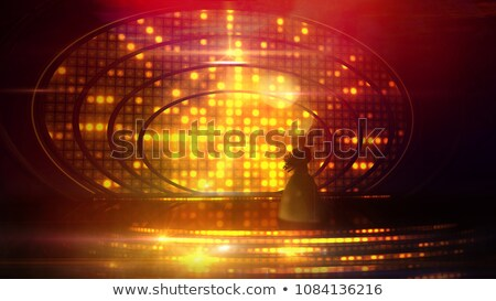 Female silhouette on stage against the festive illumination Stock photo © ConceptCafe