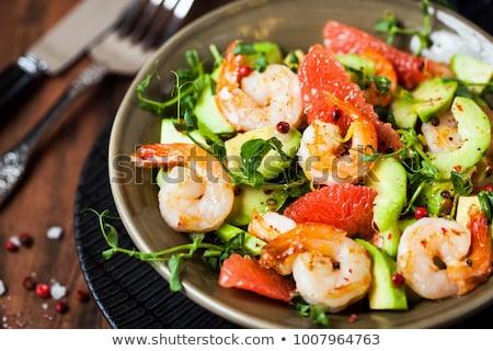 Grejpfrut Sałatka krewetki awokado żywności lata Zdjęcia stock © M-studio