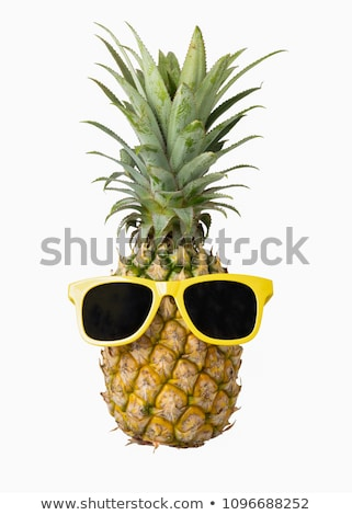 Couple verres ananas jus alimentaire Photo stock © mpessaris