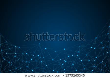 technologie · netwerk · verbinding · punten · lijnen · wetenschap - stockfoto © designleo