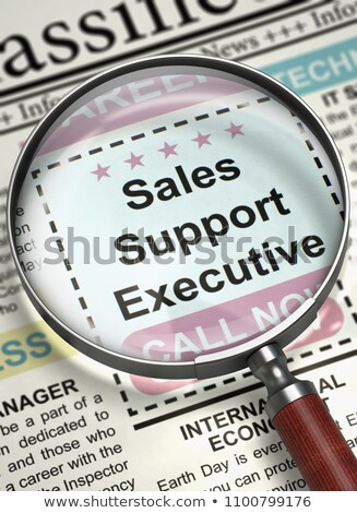 Stock photo: Job Opening Sales Support Executive. 3D.
