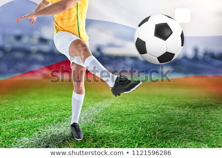 футболист генерируется русский флаг трава Сток-фото © wavebreak_media