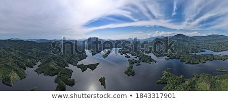 espelho · Noruega · montanha · paisagem · neve · beleza - foto stock © kotenko