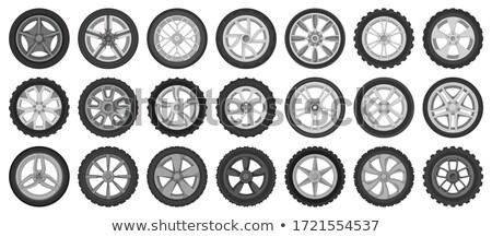 pneu · desenho · animado · projeto · carro · serviço · limpar - foto stock © ridjam