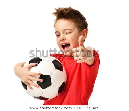 Piłkarz piłka sportu gry piłka nożna Zdjęcia stock © cienpies