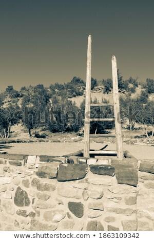 Merdiven geleneksel ahşap Stok fotoğraf © fotogal