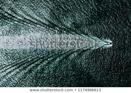 Motorcsónak fölött illusztráció sport tenger csónak Stock fotó © adrenalina