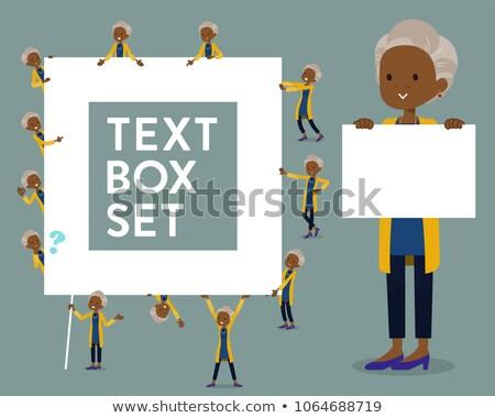 Type cardigan zwarte oude vak vrouwen Stockfoto © toyotoyo