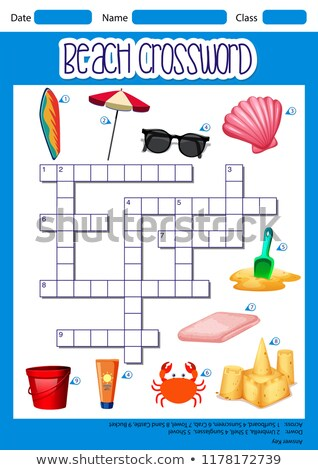 beach element crossword template stock photo © bluering