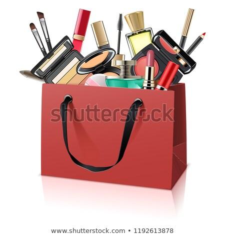 dekoratív · kozmetika · parfüm · izolált · divat · csoport - stock fotó © dashadima