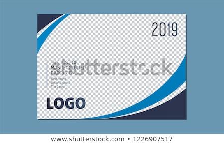 ストックフォト: スタイリッシュ · 青 · カレンダー · デザイン · 壁 · 表