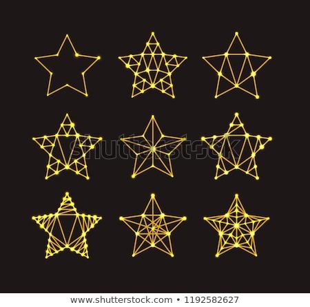 Arany mértani csillagok art deco stílus részlet Stock fotó © m_pavlov