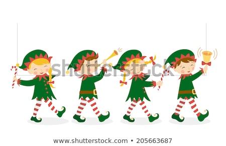 Stockfoto: Four Characters Of Christmas Elves