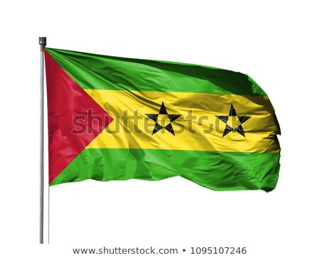 Sao Tome and Principe flag isolated on white Stock photo © daboost