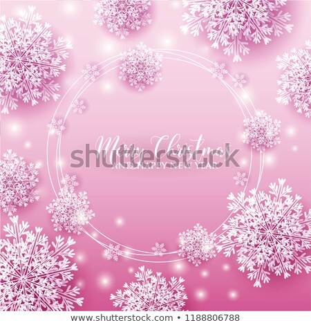 Magenta Paper Cut Merry Christmas Background Vector Illustration Stock photo © cidepix