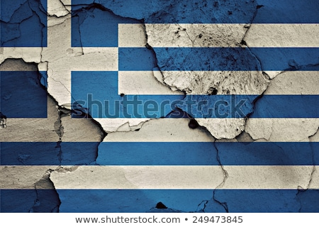 Wall painted with flag of Greece Stock photo © colematt