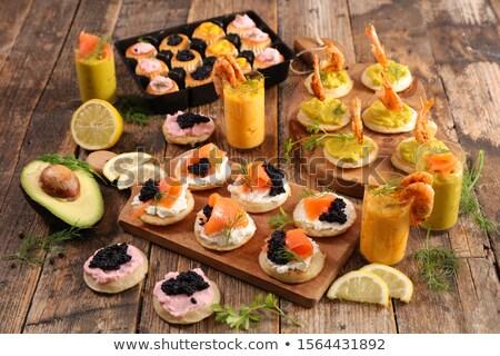 Aperitivo celebración brindis comida salmón Foto stock © M-studio