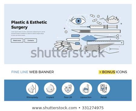 Cara bandeira plástico cirurgiões Foto stock © RAStudio