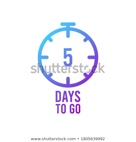 ribbon style number of days left sale and promotion banner Stock photo © SArts