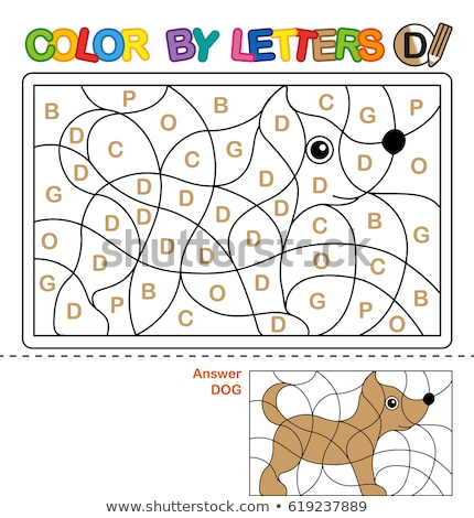D is for educational game coloring book Stock photo © izakowski