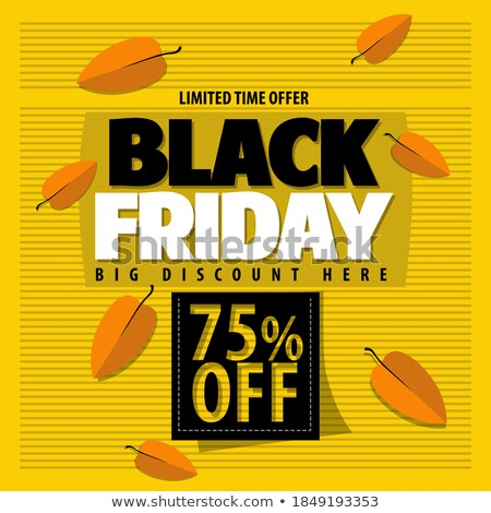 limited time autumn posters discount promo coupons stock photo © robuart