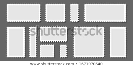 Blank rectangular stamp, vector illustration. Stock photo © kup1984