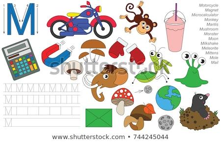 A letter M for monkey Stock photo © colematt