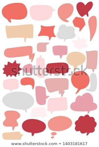 Wonen koraal gekleurd gedachte bel ontwerp Stockfoto © limbi007