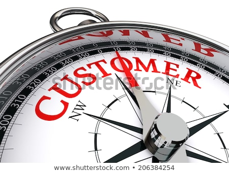 Compass on White Background, Information Concept Stock photo © make