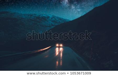 kış · Norveç · yol · köprü · gökyüzü - stok fotoğraf © anna_om