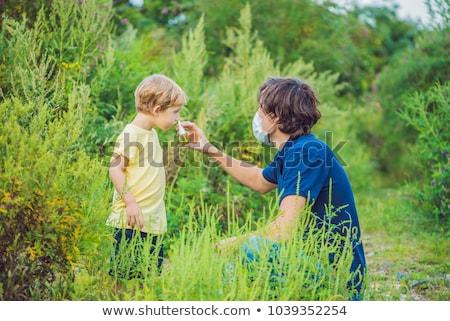 отцом сына спрей аллергия лет зеленый цвета Сток-фото © galitskaya