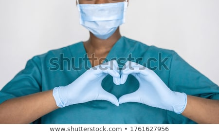Foto stock: Female Doctor Cardiologist Working In The Hospital