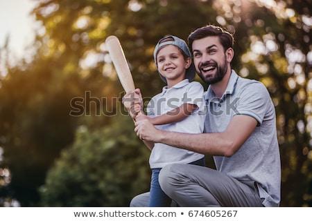 élégant papa peu cute soleil jouer Photo stock © Lopolo