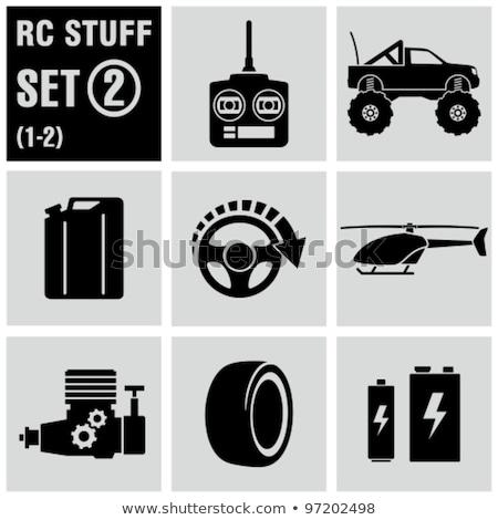 Vektor szett távirányító autó rajz grafikus Stock fotó © olllikeballoon