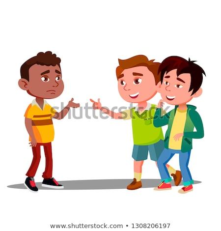 Kind Rassismus zwei weiß Jungen lachen Stock foto © pikepicture