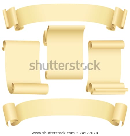 Curled Paper Ribbon or Decorative Ancient Scroll Stock photo © robuart