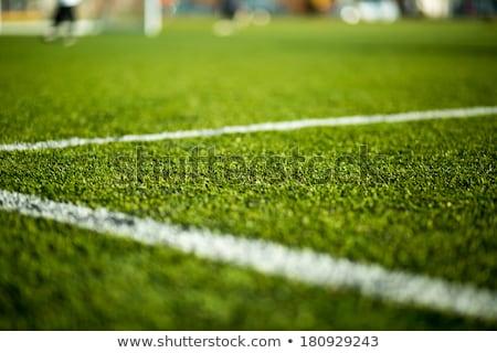 primer · plano · artificial · fútbol · campo · de · fútbol - foto stock © matimix