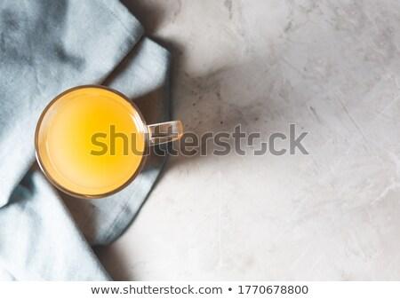 Cam kavanoz kemik et suyu üst görmek Stok fotoğraf © madeleine_steinbach