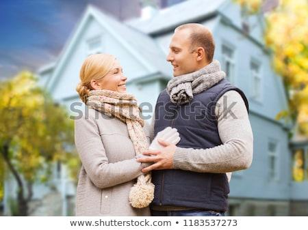 pár · ősz · boldog · fiatal · pér · szép · idő - stock fotó © dolgachov