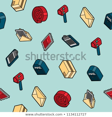 delivery flat outline isometric pattern stock photo © netkov1