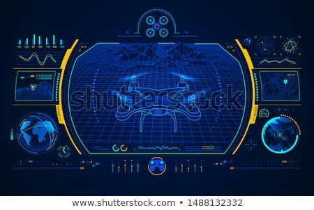 Military drone concept vector illustration. Stock photo © RAStudio