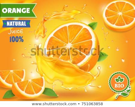 апельсиновый сок графического дизайна шаблон вектора изолированный иллюстрация Сток-фото © haris99