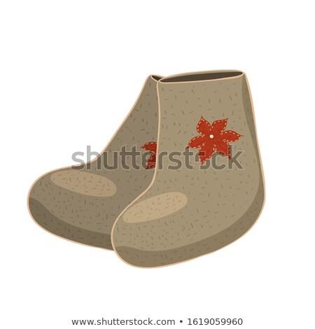 Felt boots Stock photo © smoki