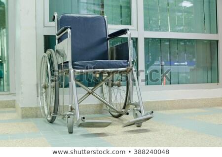 пусто колесо Председатель больницу коридор силуэта Сток-фото © AndreyPopov