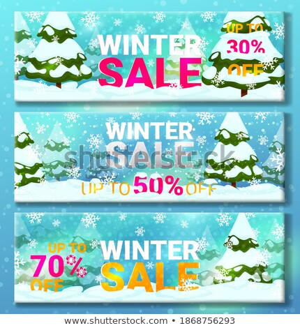 Set of Pages with Christmas Final Sale Vector Stock photo © robuart