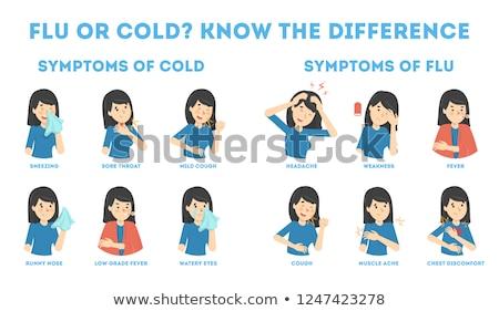 Bilgi poster mevsimlik grip vektör kız Stok fotoğraf © robuart