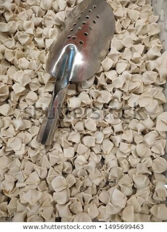 Surowy ravioli mąka puchar tabeli ryb Zdjęcia stock © tycoon