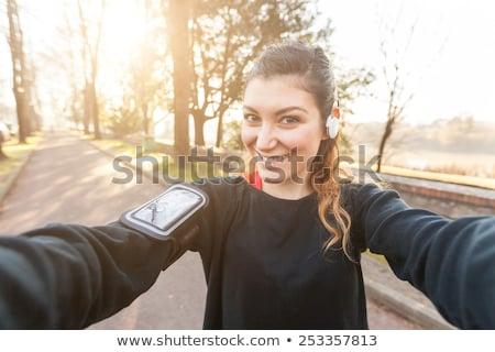 aantrekkelijke · vrouw · outdoor · zonnebril · gelukkig · schoonheid - stockfoto © boggy